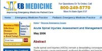 EB Medicine: Acute Spinal Injuries: Assessment and Management