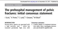 Medest118: The prehospital management of pelvic fractures: initial consensus statement