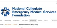 National Collegiate Emergency Medical Services Foundation PCR Library