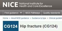 National Institute for Health and Care Excellence: The management of hip fracture in adults