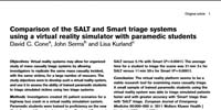 Ohio State University College of Medicine: Comparison of the SALT and Smart triage systems using a virtual reality simulator with paramedic students