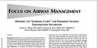 Rochester General Health System: Defining the Learning Curve for Paramedic Student Endotracheal Intubation