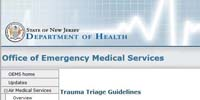 State of New Jersey Department of Health: Trauma Triage Guidelines