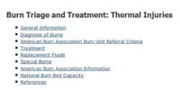 U.S. Dept. of Health & Human Services Radiation Emergency Medical Management: Burn Triage and Treatment: Thermal Injuries