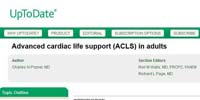 UpToDate: Advanced cardiac life support (ACLS) in adults