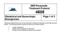WVU Medical Command Center: EMT-Paramedic Treatment Protocol Obstetrical and Gynecological Emergencies
